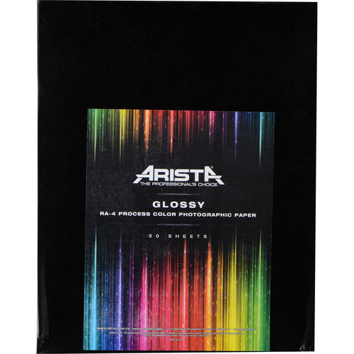 "Arista Aristacolor RA-4 Color Paper (Glossy, 11 x 14"", 50 Sheets)"