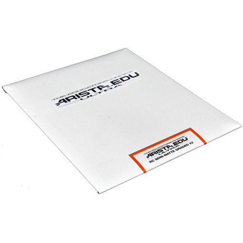 "Arista EDU Ultra Graded RC Paper (Semi-Matte, Grade 2, 8 x 10"", 25 Sheets)"