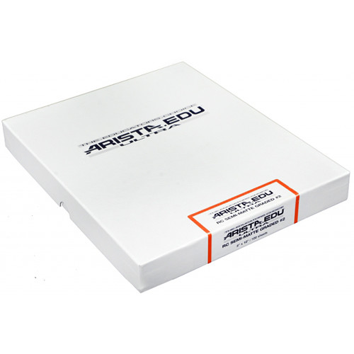 "Arista EDU Ultra Graded RC Paper (Semi-Matte, Grade 2, 8 x 10"", 100 Sheets)"