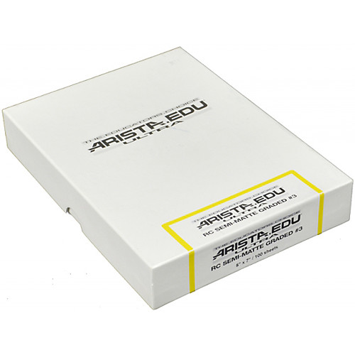 "Arista EDU Ultra Graded RC Paper (Semi-Matte, Grade 3, 5 x 7"", 100 Sheets)"