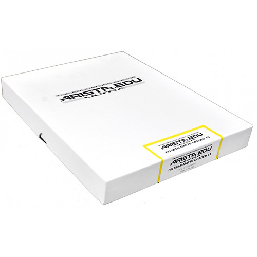 "Arista EDU Ultra Graded RC Paper (Semi-Matte, Grade 3, 8 x 10"", 100 Sheets)"