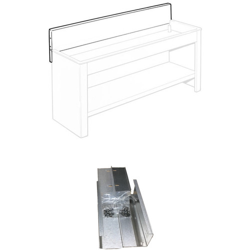 "Arkay 10"" High Backsplash and 15"" DBS-Bracket (2-Pack) for 72"" Economy Sink Kit"