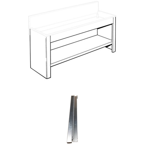 """Arkay Steel Stand and Shelf for 24x96"""" Economy Sink and Economy Stainless-Steel Stand Supports Kit"""