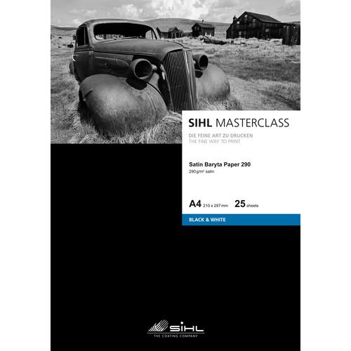 """Sihl Masterclass Satin Baryta Photo Paper 290 (13 x 19"""", 25 Sheets)"""