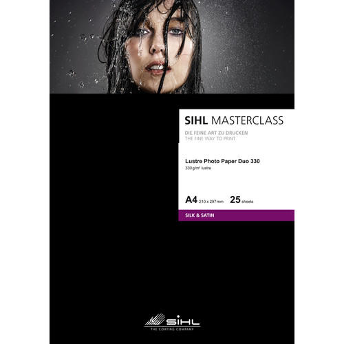 """Sihl Masterclass Luster Photo Paper Duo 330 (8.5 x 11"""", 25 Sheets)"""