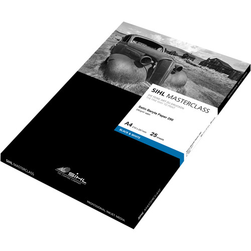 """Sihl Masterclass Satin Baryta Photo Paper 290 (8.5 x 11"""", 25 Sheets)"""