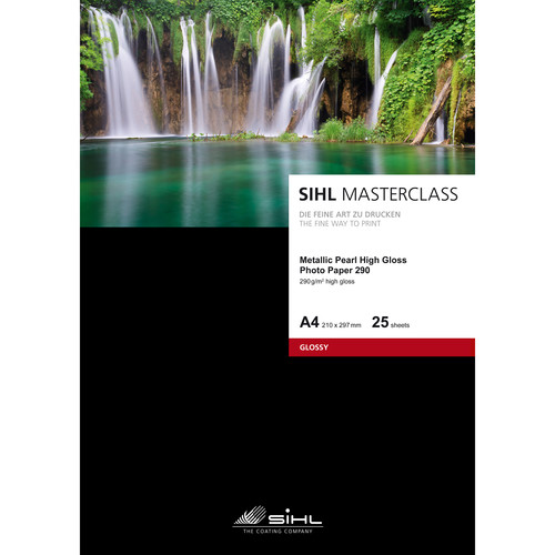 "Sihl Masterclass Metallic Pearl High Gloss Photo Paper 290 (8.5 x 11"", 25 Sheets)"