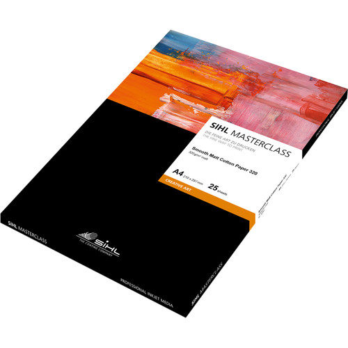 "Sihl Masterclass Smooth Matte Cotton Paper 320 (8.5 x 11"", 25 Sheets)"