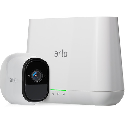 arlo Pro Smart Security System with Base Station and 1 720p Outdoor Wireless Camera