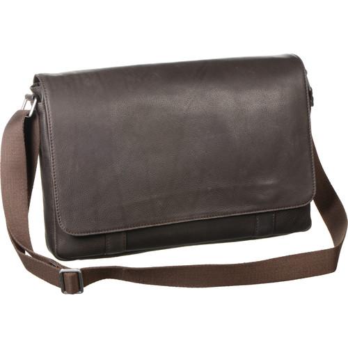 """Savile Row Computer Messenger Bag for 15"""" Laptop (Brown)"""