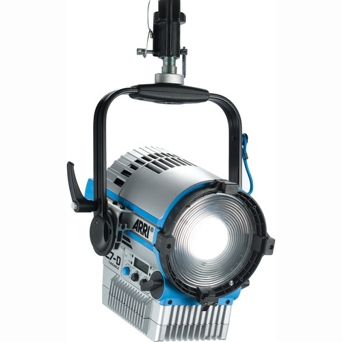 "Arri L7-DT 7"" Daylight LED Fresnel with Active Cooling (Silver/Blue, Hanging)"