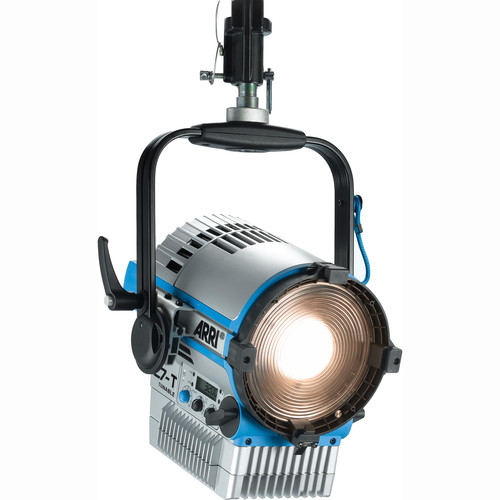 "Arri L7-TT 7"" Tungsten LED Fresnel with Active Cooling (Silver/Blue, Pole Operated)"