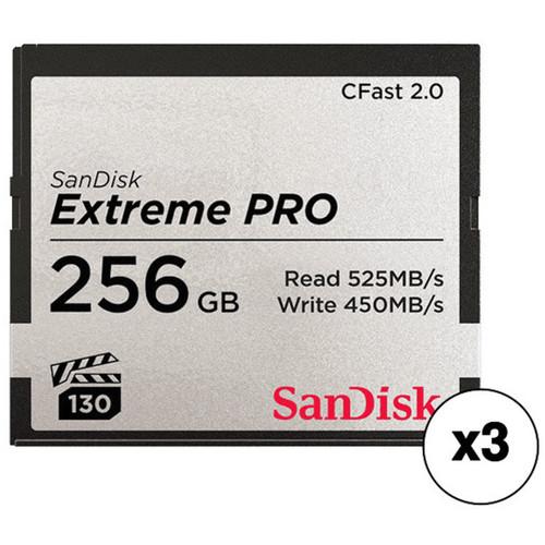 ARRI 256GB Extreme PRO CFast 2.0 Memory Card Kit (3-Pack)