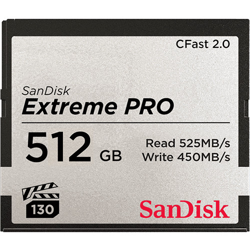 ARRI 512GB Extreme PRO CFast 2.0 Memory Card