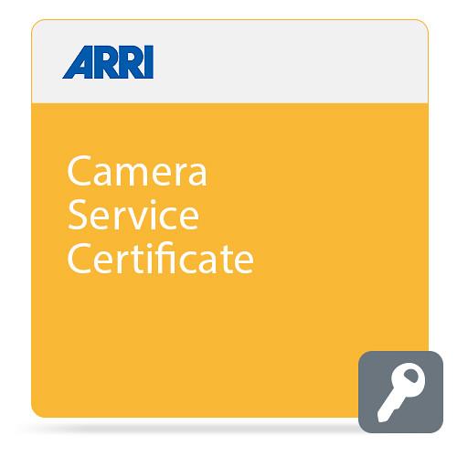 ARRI Camera Service Certificate