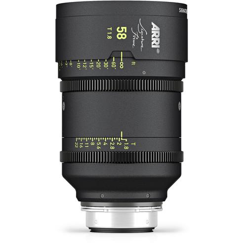 ARRI Signature Prime 58mm T1.8 Lens (Feet)