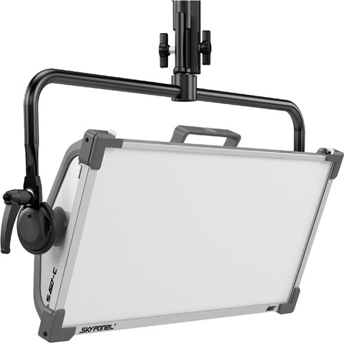 ARRI SkyPanel S60-C LED Softlight with Pole Operated Yoke (Black, Bare Ends)