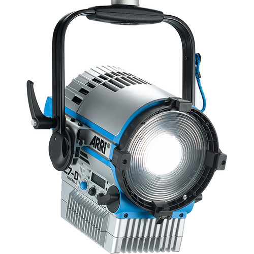 "ARRI L7-DT 7"" Daylight LED Fresnel with powerCON Cable (Silver/Blue, Pole Operated)"