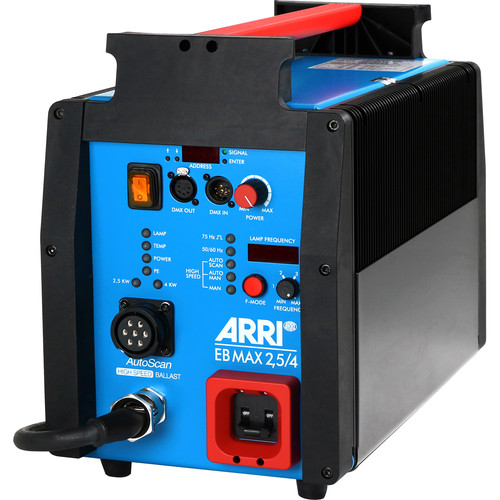 ARRI EB MAX 2.5/4K High-Speed Electronic Ballast with AFL, CCL, DMX & AutoScan (US)