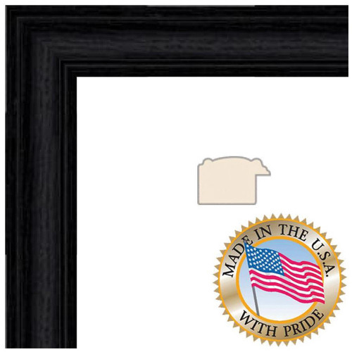 "ART TO FRAMES 4083 Black Stain Solid Red Oak Photo Frame (3.5 x 5"", Regular Glass)"