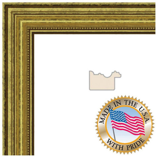 "ART TO FRAMES 4159 Gold Foil on Pine Photo Frame (5 x 7"", Regular Glass)"