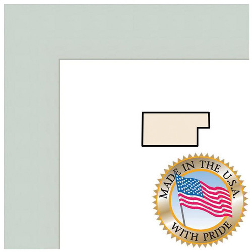 "ART TO FRAMES 4121 Baby Blue Stain on Beech Photo Frame (11 x 14"", Regular Glass)"