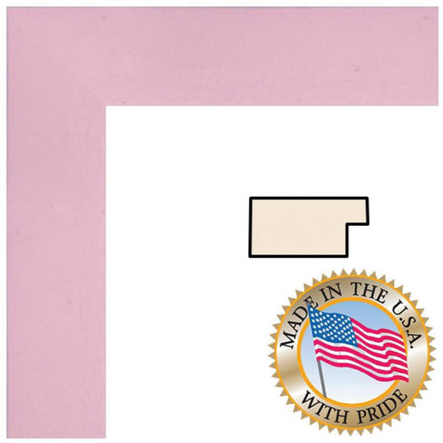 """ART TO FRAMES 4120 Baby Pink Stain on Beech Photo Frame (18 x 36"""", Acrylic Glass)"""