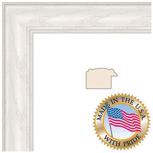 "ART TO FRAMES 4098 White Wash on Ash Photo Frame (3 x 5"", Regular Glass)"