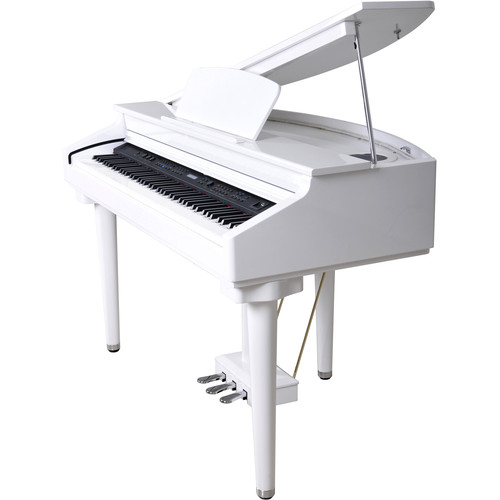 Artesia DG-55 Baby Digital Grand Piano with Weighted Hammer Action (Gloss White)
