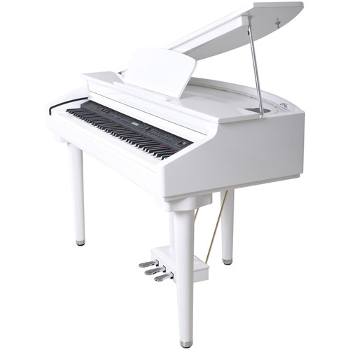 Artesia DG-55F Baby Digital Grand Piano with Fatar Hammer Action (Gloss White)
