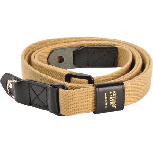 Artisan & Artist ACAM-100 Beige Camera Strap (Black Buckle)