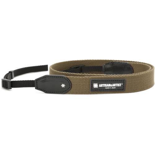 Artisan & Artist ACAM-110 Slim Tape Camera Strap (Khaki)