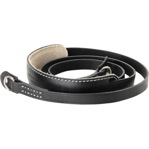 Artisan & Artist ACAM-252 Long Leather Camera Strap (Black)
