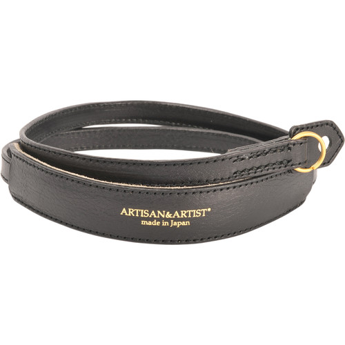 Artisan & Artist ACAM-255 Leather Camera Strap (Black)
