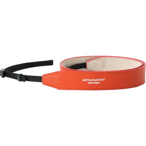 Artisan & Artist ACAM-600 Soft Leather Camera Strap (Orange)