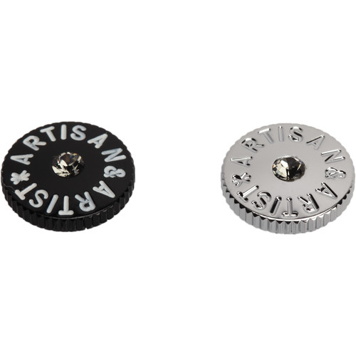 Artisan & Artist ACAM-91 Soft Shutter Button for Cameras (Black and Silver, Clear Crystal)