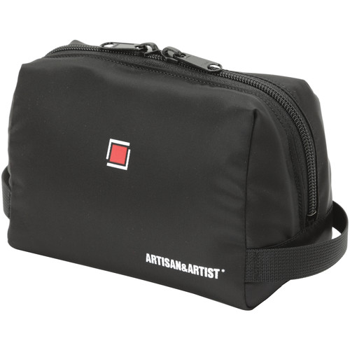 Artisan & Artist GI-MN Camera Pouch for Compact Body and Lens (Black with Red Lining)