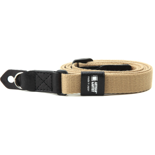 Artisan & Artist Camera Strap with Ring Attachment (Acrylic/Leather, Beige/Black)