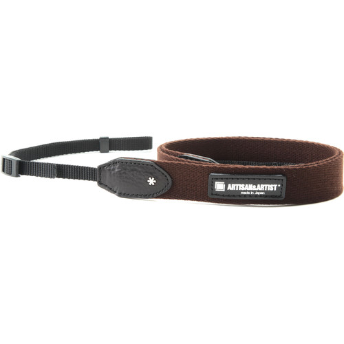 Artisan & Artist Slim Camera Strap with Tape Attachment (Acrylic/Leather, Brown)