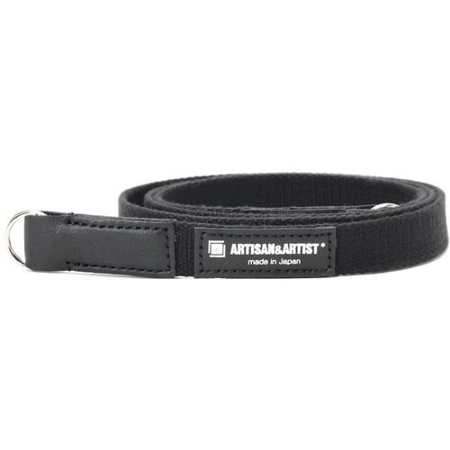 Artisan & Artist Slim Camera Strap with Ring (Acrylic/Leather, Black)