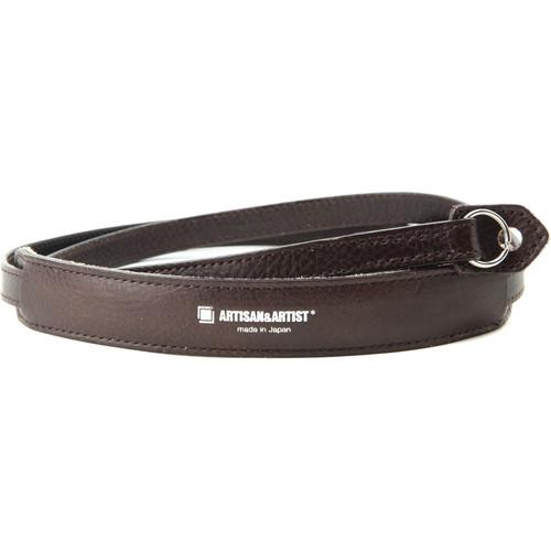 Artisan & Artist Slim Leather Strap with Removable Shoulder Pad for Mirrorless & DSLR Cameras (Dark Brown)