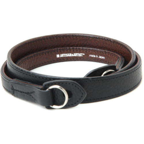 Artisan & Artist Leather Camera Strap with Ring Attachment (Black/Brown)
