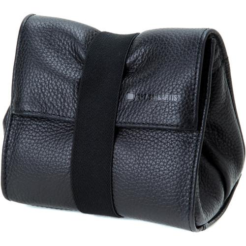 Artisan & Artist ACAM-77 Soft Leather Pouch (Black)