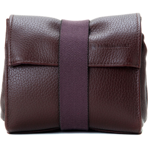 Artisan & Artist Soft Leather Pouch for Small Mirrorless Camera, Lens, & Accessories (Brown)