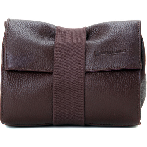 Artisan & Artist Soft Leather Pouch for Mirrorless Camera, Lens, & Accessories (Brown)