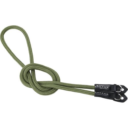 Artisan & Artist ACAM-306N Braided Silk-Cord Long Camera Strap (Khaki)