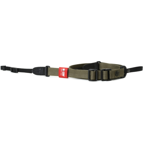 Artisan & Artist Slim Easy Slider Camera Strap with Tape Attachment (Nylon/Leather, Khaki)