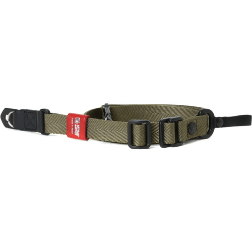 Artisan & Artist Slim Easy Slider Camera Strap with Ring Attachment (Nylon/Leather, Khaki)