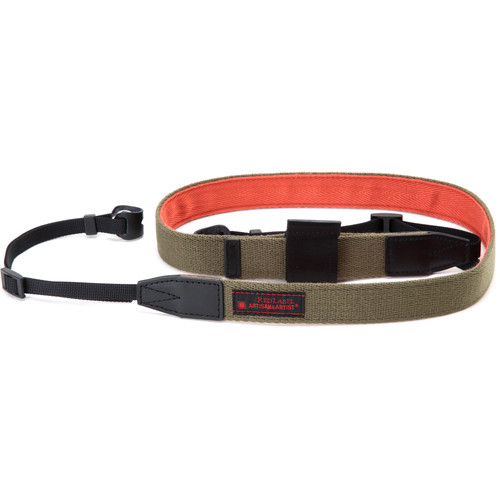 Artisan & Artist RDS-AC100 Camera Strap with Lens Cap Holder (Khaki/Orange)