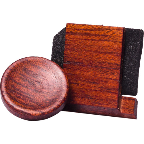 Artisan Obscura Soft Shutter Release & Hot Shoe Cover Set (Small, Concave, Sticky-Backed, Bloodwood)